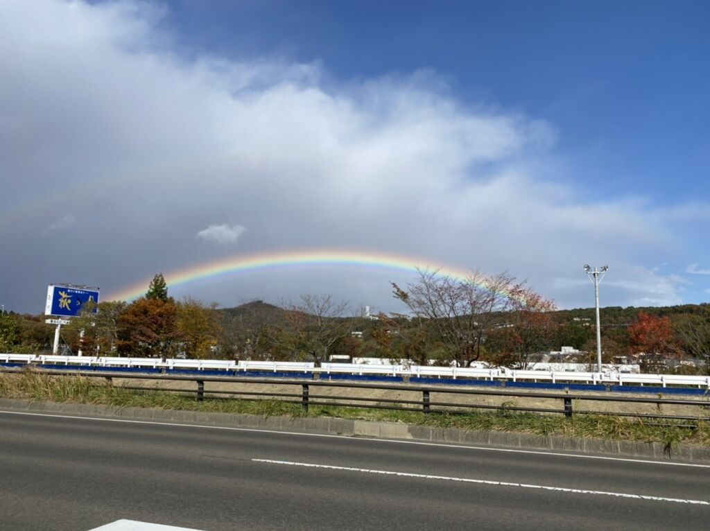 仙台宮城インターの虹