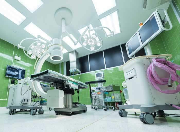 病院の医療機械パーツ