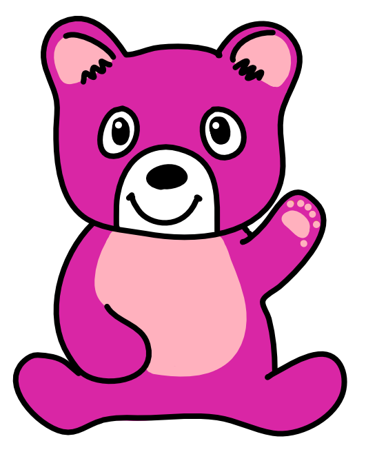 ゆるキャラ桃色クマさん